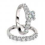 Gottlieb & Sons Engagement Ring Set: Prong-Set Round Diamond