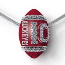 Buckeyes Diamond 14k Gold Enamel Pendant