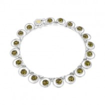 Tacori Vault Gem Circle Necklace featuring Olive Quartz