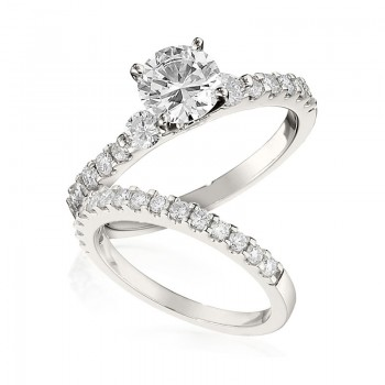 Gottlieb & Sons Engagement Ring Set: Classic Prong-Set