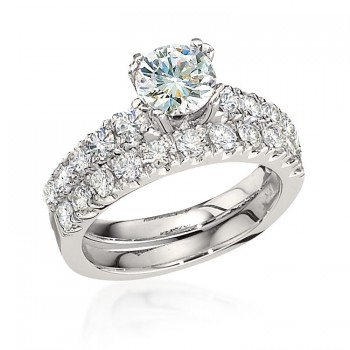 Gottlieb & Sons Engagement Ring Set: Cathedral