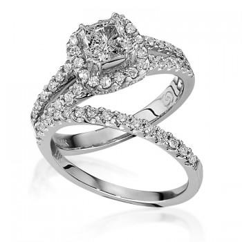 Gottlieb & Sons Engagement Ring Set: Split-Shank Halo