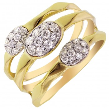 Dabakarov Diamond Fashion Ring in 14kt Yellow Gold (3/8ct tw)