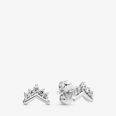 Tiara Wishbone Stud Earrings