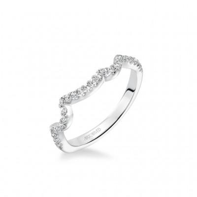 Thalia Contemporary Diamond Curved Wedding Band