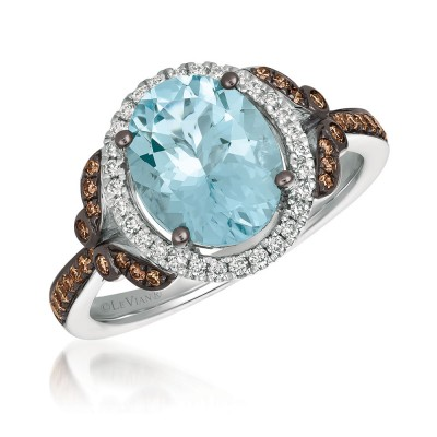 Le Vian 14K Vanilla Gold®  Sea Blue Aquamarine Ring ZUNX 10