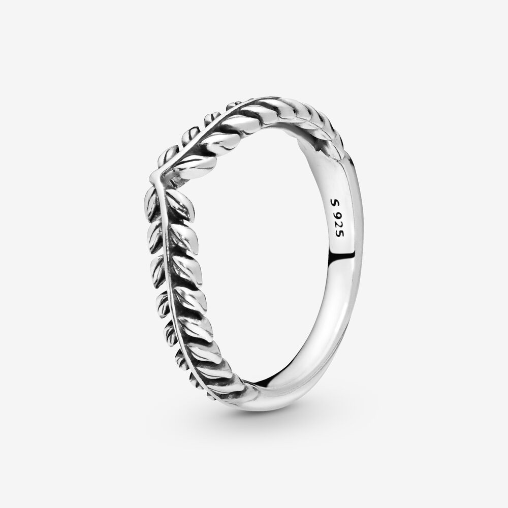 Wheat Grains Wishbone Ring