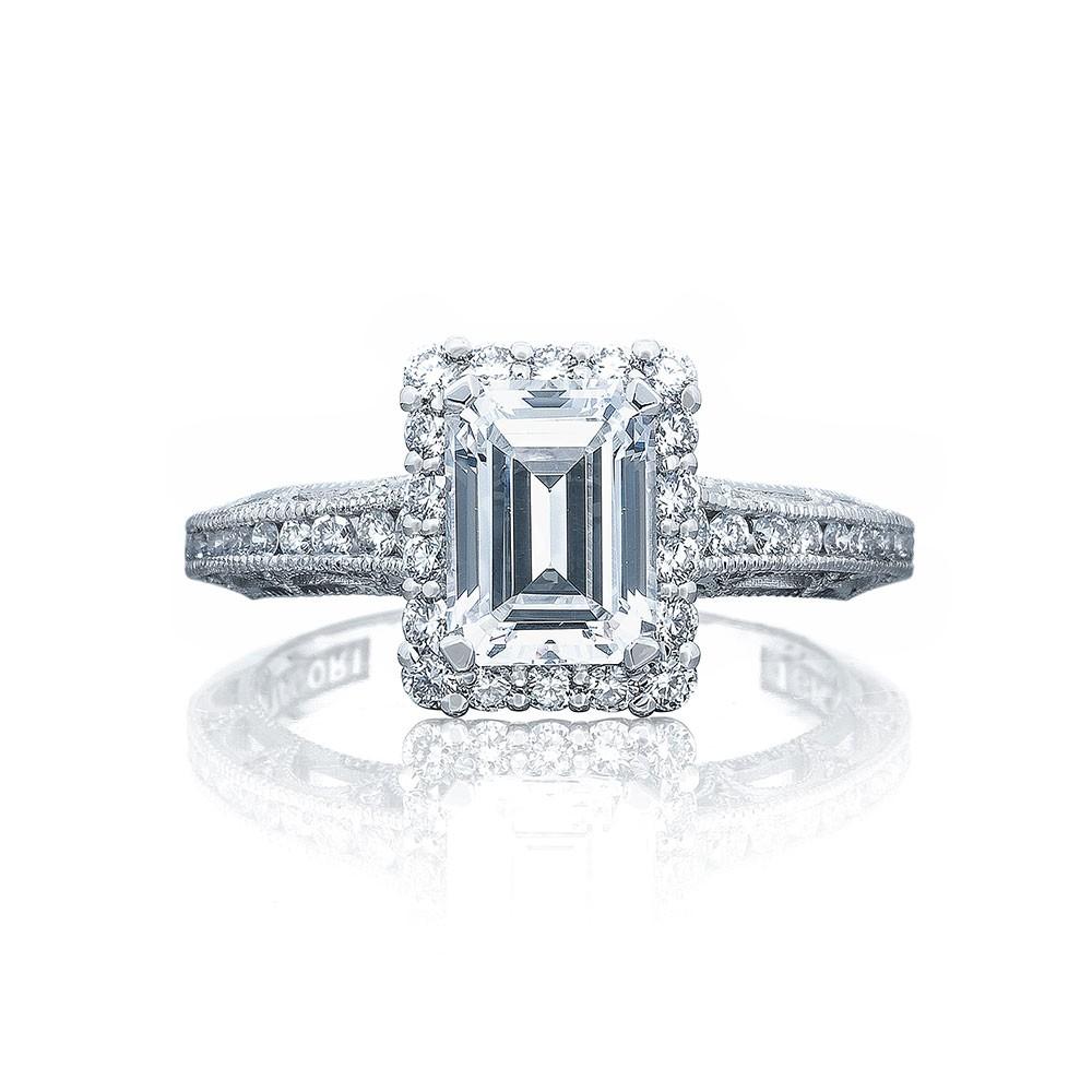 Tacori 2618EC75X55 Platinum Reverse Crescent Engagement Ring