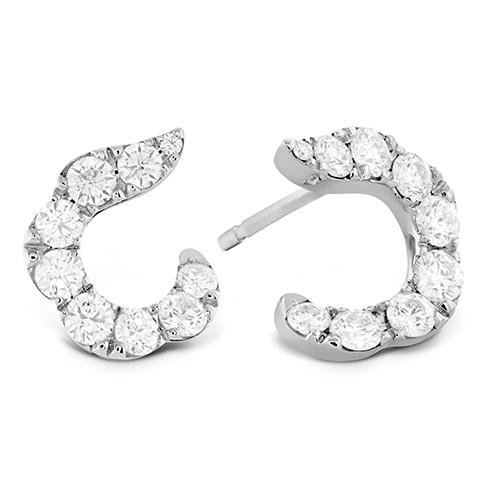 Lorelei Crescent Diamond Earrings