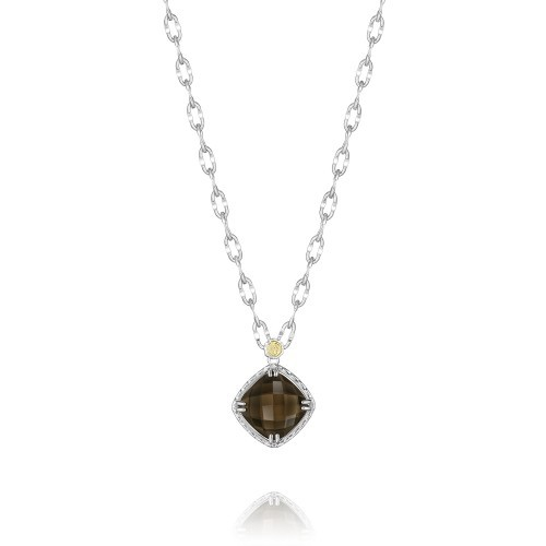 Truffle Petite Cushion Cut Gem Pendant