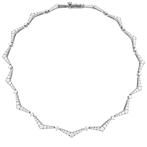Triplicity Pointed Line Necklace