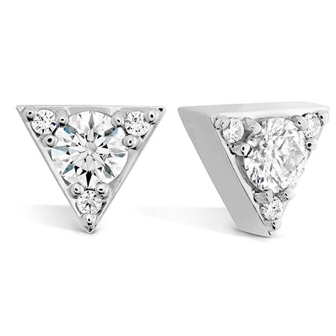 Triplicity Triangle Stud Earrings