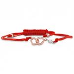 Lorelei Interlocking Heart Cord Bracelet