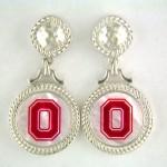 Buckeyes Sterling Mother of Pearl earrings