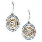Shimmering Diamonds® Embedded Oval Earrings SD13E31/.50