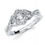 Shimmering Diamonds® Woven Diamond Ring SD14F82