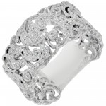 Dabakarov Diamond Fashion Ring in 14kt White Gold (1/3ct tw)