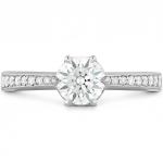 HOF Signature 6 Prong Engagement Ring - Diamond Band