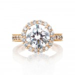Tacori HT2605RD95PK 18 Karat Pretty In Pink Engagement Ring
