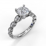 Vintage Marquise Shaped Engagement Ring