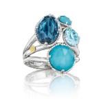 Precious Cluster Ring featuring Assorted Gemstones
