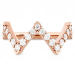 Triplicity Pointed Diamond Ring