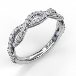 Wide Twist Diamond Band