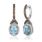 Le Vian 14K Vanilla Gold® Sea Blue Aquamarine Earring ZUNX 11