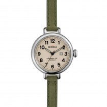 THE BIRDY 34mm DOUBLE WRAP LEATHER STRAP WATCH