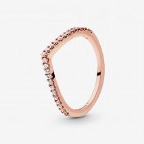 Sparkling Wishbone Ring