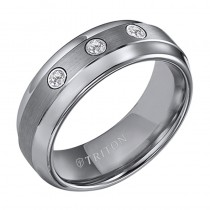 8MM Tungsten Diamond Ring 21-2217C-G.01