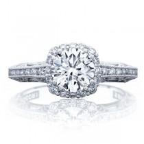 Tacori 2618CU65W 18 Karat Reverse Crescent Engagement Ring