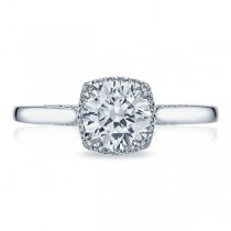 Tacori Platinum Dantela Engagement Ring 2620RDPT