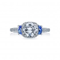 Tacori Dantela Platinum Engagement Ring 2628RDSP