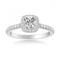 Tori Classic Cushion Halo Diamond Engagement Ring