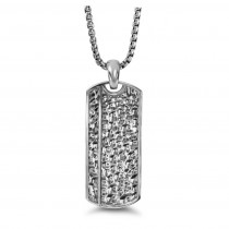 """Silver Dog 26"""" Necklace with Hammer Finish"""