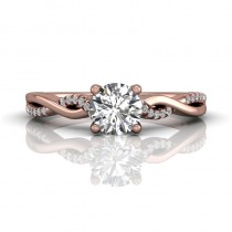 Martin Flyer FlyerFit Solitaire 18k Pink Gold Cut Down Engagement Ring DERM39XSPZ-D-5.7RD