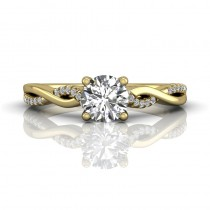 Martin Flyer FlyerFit Solitaire 14k Yellow Gold Cut Down Engagement Ring DERM39XSYQ-F-5.7RD