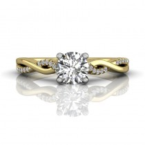 Martin Flyer FlyerFit Solitaire 14k Yellow And 14k White Gold Cut Down Engagement Ring