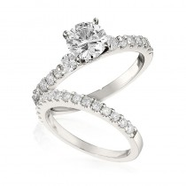 Gottlieb & Sons Engagement Ring Set: Classic Prong-Set