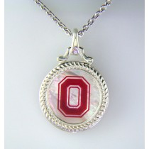 Buckeyes Sterling Mother of Pearl Pendant