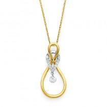 Shimmering Diamonds® Linked Tear Drop Pendant SD13P07