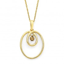 Shimmering Diamonds® Twisted Circle Pendant SD13P13BR