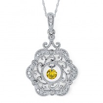Shimmering Diamonds® Rose Pendant SD13P15YL