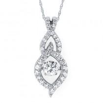 Shimmering Diamonds® Woven Tear Drop Pendant SD13P30/.50