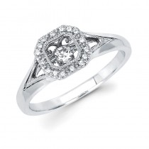 Shimmering Diamonds® Square Ring SD14F83
