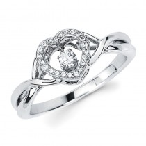 Shimmering Diamonds® Woven Heart Ring SD14F84