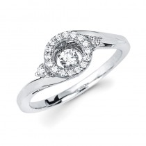 Shimmering Diamonds® Crossover Circle Ring SD14F86