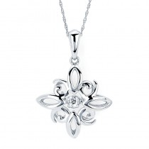 Shimmering Diamonds® Snowflake Pendant SD14P38/.07