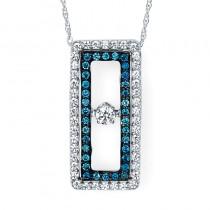 Shimmering Diamonds® Rectangle Pendant SD14P66BL